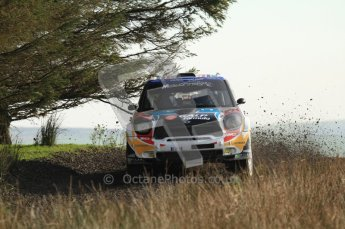 © North One Sport Ltd 2011 / Octane Photographic Ltd 2011. 13th November 2011 Wales Rally GB, WRC SS21 Halfway. Armindo Araujo and Miguel Ramalho in their Mini John Cooper Works, Digital Ref : 0200LW7D8806