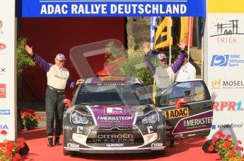 © North One Sport Ltd.2011/Octane Photographic Ltd. WRC Germany – Final Podium - Sunday 21st August 2011. Peter van Merksteijn and Erwin Mombaerts - Citroen DS3 WRC. Digital Ref : 0153CB1D6296