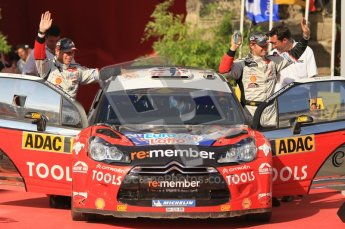 © North One Sport Ltd.2011/Octane Photographic Ltd. WRC Germany – Final Podium - Sunday 21st August 2011. Petter Solberg and Chris Patterson - Citroen DS3 WRC. Digital Ref : 0153CB1D6345