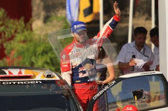 © North One Sport Ltd.2011/Octane Photographic Ltd. WRC Germany – Final Podium - Sunday 21st August 2011. Sebastien Loeb - Citroen DS3 WRC. Digital Ref : 0153CB1D6383