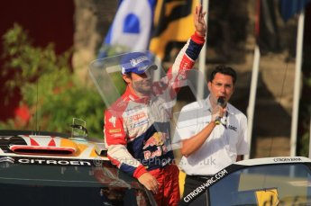 © North One Sport Ltd.2011/Octane Photographic Ltd. WRC Germany – Final Podium - Sunday 21st August 2011. Sebastien Loeb - Citroen DS3 WRC. Digital Ref : 0153CB1D6392