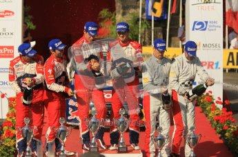© North One Sport Ltd.2011/Octane Photographic Ltd. WRC Germany – Final Podium - Sunday 21st August 2011. Ready to start spraying - Daniel Elena; Sebastien Loeb; Julian Ingrassia; Sebastien Ogier; Daniel Sordo and Carlos Corral. Digital Ref : 0153CB1D6464