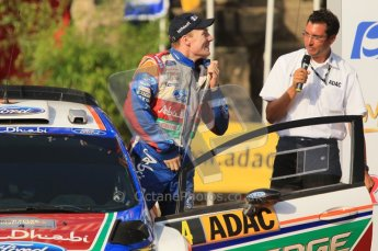 © North One Sport Ltd.2011/Octane Photographic Ltd. WRC Germany – Final Podium - Sunday 21st August 2011. Jari-Matti Latvala does up his racesuit - Ford Fiesta RS WRC. Digital Ref : 0153CB1D6524
