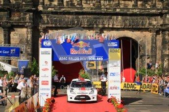 © North One Sport Ltd.2011/Octane Photographic Ltd. WRC Germany – Final Podium - Sunday 21st August 2011. Ott Tanak and Kuldar Sikk - Ford Fiesta S2000. Digital Ref : 0153CB7D0703