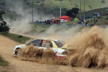 © Grize Motorsport 2011. WRC Portugal. The locals kicking up a dust storm. Digital Ref : cam11050