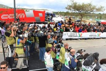 © Grize Motorsport 2011. WRC Portugal. Media scrum. Digital Ref : 0048cam18398