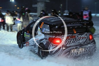 © North One Sport Ltd.2011/ Octane Photographic Ltd.2011. WRC Sweden SS1 Karlstad Arena Super Special, Thursday 10th February 2011, Kimi Raikkonen/Kaj Lindstrom, Citroen DS3 WRC. Digital ref : 0139LW7D8525
