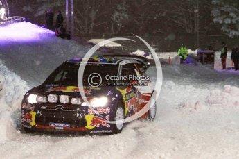 © North One Sport Ltd.2011/ Octane Photographic Ltd.2011. WRC Sweden SS1 Karlstad Arena Super Special, Thursday 10th February 2011, Sebastien Loeb/Daniel Elena, Citroen DS3 WRC. Digital ref : 0139LW7D8567
