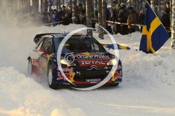 ©  North One Sport Limited 2011/Octane Photographic. 2011 WRC Sweden SS10 Fredericksberg, Saturday 12th February 2011, Sebastien Loeb/Daniel Elena, Citroen DS3 WRC. Digital ref : 0142LW7D8938