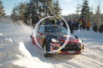 © North One Sport Limited 2011/Octane Photographic Ltd. 2011 WRC Sweden SS5 Vargassen lI, Friday 11th February 2011, Sebastien Loeb/Daniel Elena, Citroen DS3 WRC. Digital ref : 0141CB1D6964
