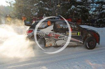 ©  North One Sport Limited 2011/Octane Photographic. 2011 WRC Sweden SS5 Vargassen lI, Friday 11th February 2011, Kimi Raikkonen/Kaj Lindstrom, Citroen DS3 WRC. Digital ref : 0141CB1D7046