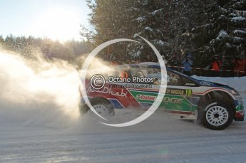 ©  North One Sport Limited 2011/Octane Photographic. 2011 WRC Sweden SS5 Vargassen lI, Friday 11th February 2011. Digital ref : 0141CB1D7068