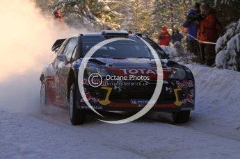 ©  North One Sport Limited 2011/Octane Photographic. 2011 WRC Sweden SS5 Vargassen lI, Friday 11th February 2011. Digital ref : 0141LW7D8765