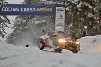 © North One Sport Ltd.2011/ Octane Photographic Ltd.2011. WRC Sweden SS2 Vargassen l (Colin's Crest), Friday 11th February 2011, Sebastien Loeb/Daniel Elena, Citroen DS3 WRC. Digital ref : 0140CB1D6817