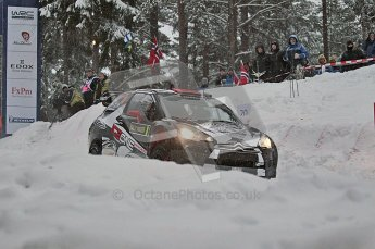 © North One Sport Ltd.2011/ Octane Photographic Ltd.2011. WRC Sweden SS2 Vargassen l (Colin's Crest), Friday 11th February 2011, Kimi Raikkonen/Kaj Lindstrom, Citroen DS3 WRC. Digital ref : 0140CB1D6854