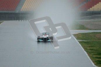 World © Octane Photographic 2011.  Formula 1 testing Saturday 12th March 2011 Circuit de Catalunya. Mercedes MGP W02 - Michael Shumacher. Digital ref : 0018CB1D4295