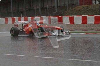 World © Octane Photographic 2011.  Formula 1 testing Saturday 12th March 2011 Circuit de Catalunya. Ferrari 150° Italia - Fernando Alonso. Digital ref : 0018LW7D5966