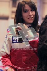 © Octane Photographic Ltd. 2012. Autosport International 2012 Celebrity Karting for the Race To Recovery charity. 12th January 2012. Jade Paveley. Digital Ref : 0206cb1d1084