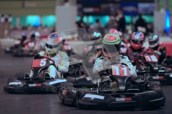 © Octane Photographic Ltd. 2012. Autosport International 2012 Celebrity Karting for the Race To Recovery charity. 12th January 2012. Digital Ref : 0206cb1d1599