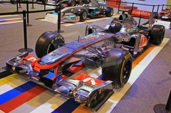 © Octane Photographic Ltd. 2012. Autosport International F1 Cars Old and New. McLaren show car front quarter. Digital Ref : 0207cb7d1819
