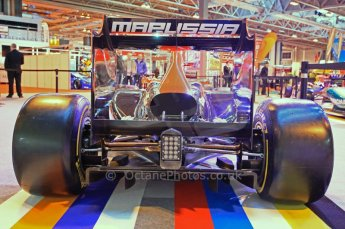 © Octane Photographic Ltd. 2012. Autosport International F1 Cars Old and New. Marussia Virgin show car rear end. Digital Ref : 0207cb7d1849