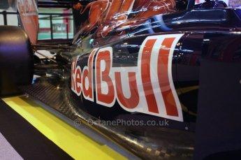 © Octane Photographic Ltd. 2012. Autosport International F1 Cars Old and New. Torro Roso show car side pod. Digital Ref : 0207lw7d2431