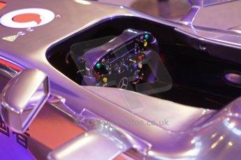 © Octane Photographic Ltd. 2012. Autosport International F1 Cars Old and New. McLaren show car cockpit. Digital Ref : 0207lw7d2497