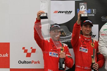 © 2012 Octane Photographic Ltd. Monday 9th April. Avon Tyres British GT Championship - Race Podium. Duncan Cameron & Matt Griffin. Digital Ref : 0288lw7d4419