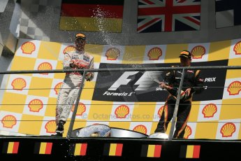 © 2012 Octane Photographic Ltd. Belgian GP Spa - Sunday 2nd September 2012 - F1 Podium. Digital Ref :
