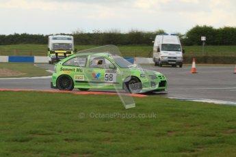 © Octane Photographic Ltd. BritCar Production Cup Championship race. 21st April 2012. Donington Park. Gary Smith/Byrne, MG ZR. Digital Ref : 0300lw7d7225