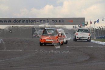 © Octane Photographic Ltd. BritCar Production Cup Championship race. 21st April 2012. Donington Park. Moore/Moore, thesmartracingclub.com, Brabus forfour. Digital Ref : 0300lw7d7240