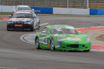 © Octane Photographic Ltd. BritCar Production Cup Championship race. 21st April 2012. Donington Park. Tom Howard/Carl Breeze, Ginetta G40. Digital Ref : 0300lw7d7482