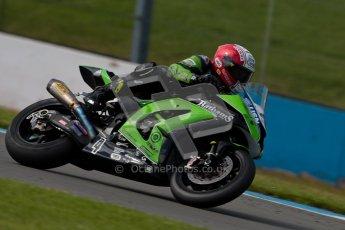 © Octane Photographic Ltd/Chris Enion 2012. British Superbikes test day – Donington Park, Tuesday 7th August 2012. Michael Rutter - MSS Bathams Kawasaki. Digital Ref : 0450CE1D0383