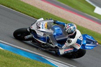 © Octane Photographic Ltd/Chris Enion 2012. British Superbikes test day – Donington Park, Tuesday 7th August 2012. Alastair Seeley - Tyco Suzuki. Digital Ref : 0450CE1D0727