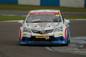 © Octane Photographic Ltd. BTCC - Round Two - Donington Park - Quail. Saturday 14th April 2012. Tony Hughes, Toyota Avensis, Speedworks Motorsport. Digital ref : 0294lw1d7122