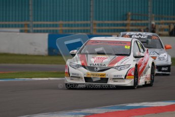 © Octane Photographic Ltd. BTCC - Round Two - Donington Park - Quail. Saturday 14th April 2012. Gordon Shedden, Honda Civic, Honda Yuasa Racing Team. Digital ref : 0294lw1d7230