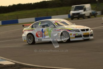 © Octane Photographic Ltd. BTCC - Round Two - Donington Park - Race 1. Sunday 15th April 2012. Rob Collard at speed through the Esses in his eBay Motors BMW 320si. Digital ref : 0295lw7d3437