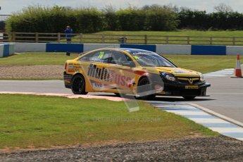 © Octane Photographic Ltd. BTCC - Round Two - Donington Park - Race 1. Sunday 15th April 2012. Chris James, Vauxhall Vectra, Team ES racing.com. Digital ref : 0295lw7d3544