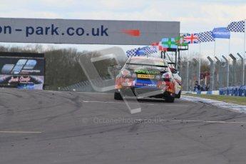 © Octane Photographic Ltd. BTCC - Round Two - Donington Park - Race 1. Sunday 15th April 2012. Jason Plato, MG6, MG KX Momentum Racing. Digital ref : 0295lw7d3996