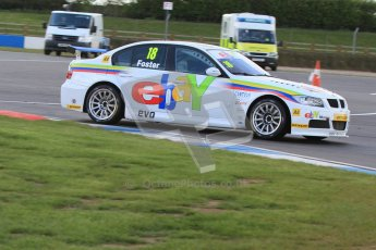 © Octane Photographic Ltd. BTCC - Round Two - Donington Park - Race 1. Sunday 15th April 2012. Nick Foster, BMW 320si, eBay Motors. Digital ref : 0295lw7d4020