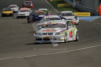 © Octane Photographic Ltd. BTCC - Round Two - Donington Park - Race 2. Sunday 15th April 2012. The grid warm their tyres on the formation lap for race 2. Digital ref : 0296lw7d4333