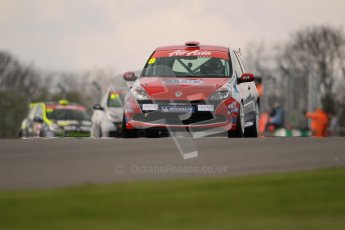 © Octane Photographic Ltd. BTCC - Round Two - Donington Park. AirAsia Renault UK Clio Cup Championship practice. Saturday 14th April 2012. Finlay Crocker, Scuderia Vittoria. Digital ref : 0292lw1d6440