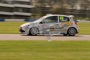 © Octane Photographic Ltd. BTCC - Round Two - Donington Park. AirAsia Renault UK Clio Cup Championship practice. Saturday 14th April 2012. Paul Rivett, Per Hire/Stancombe Vehicle Engineering. Digital ref : 0292lw7d2948