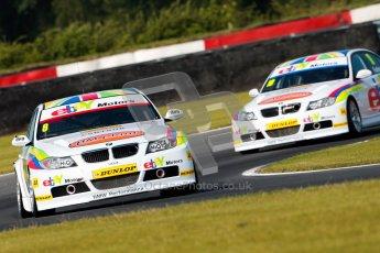 © Octane Photographic Ltd./Chris Enion. British Touring Car Championship – Round 6, Snetterton, Saturday 11th August 2012. Free Practice 1. Robert Collard and Nick Foster - eBay Motors, BMW 320si E90. Digital Ref : 0452ce1d0010-2