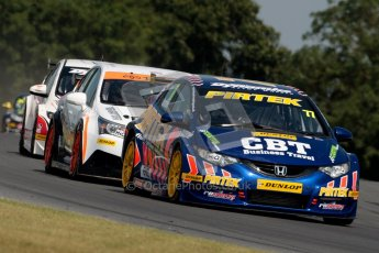 © Octane Photographic Ltd./Chris Enion. British Touring Car Championship – Round 6, Snetterton, Sunday 12th August 2012. Race 1. Andrew Jordan - Pirtek Racing, Honda Civic. Digital Ref : 0455ce1d0036