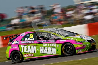© Octane Photographic Ltd./Chris Enion. British Touring Car Championship – Round 6, Snetterton, Sunday 12th August 2012. Race 2. Robb Holland - Team HARD, Honda Civic. Digital Ref : 0456ce1d0048