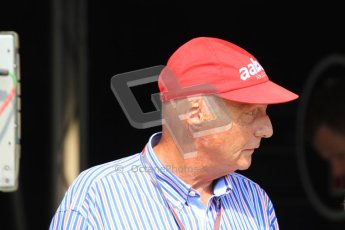 © 2012 Octane Photographic Ltd. Hungarian GP Hungaroring - Saturday 28th July 2012 - F1 Qualifying. Niki Lauda. Digital Ref : 0430lw7d0490
