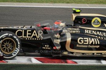 © 2012 Octane Photographic Ltd. Hungarian GP Hungaroring - Saturday 28th July 2012 - F1 Qualifying. Lotus E20 - Romain Grosjean. Digital Ref : 0430lw7d6742