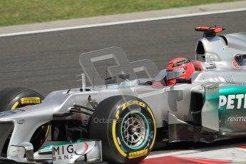 © 2012 Octane Photographic Ltd. Hungarian GP Hungaroring - Saturday 28th July 2012 - F1 Qualifying. Mercedes W03 - Michael Schumacher. Digital Ref : 0430lw7d7240