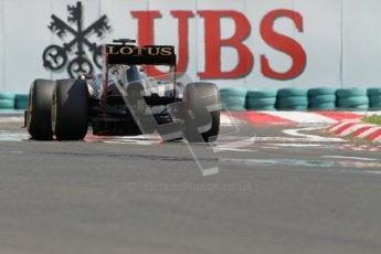 © 2012 Octane Photographic Ltd. Hungarian GP Hungaroring - Saturday 28th July 2012 - F1 Qualifying. Lotus E20 - Romain Grosjean. Digital Ref : 0430lw7d7809